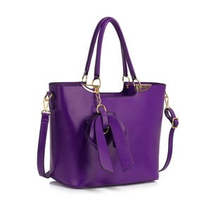 Fialová kabelka L&S Bags Clichy