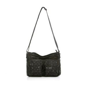 Čierna kožená kabelka Just B Different Auriga d188a42ba8a