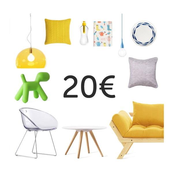 Elektronický darčekový poukaz na 20 €