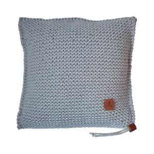 Pletený vankúš Catness, sivý, 50x50 cm