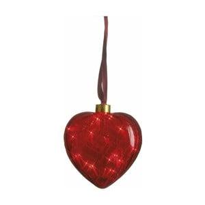 Svietiace srdce Heart Red, 13 cm