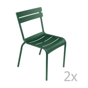 Sada 2 zelených stoličiek Fermob Luxembourg