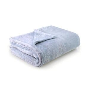 Svetlomodrá deka z mikrovlákna DecoKing Fluff BabyBlue, 220 x 240 cm