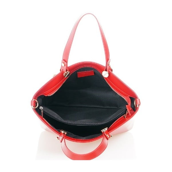 Kožená kabelka Viviana, červená