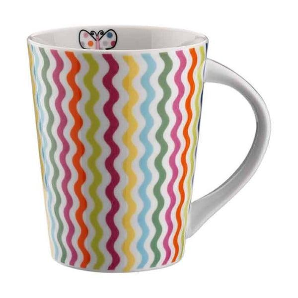 Porcelánová šálka Farebné vlny, 275 ml