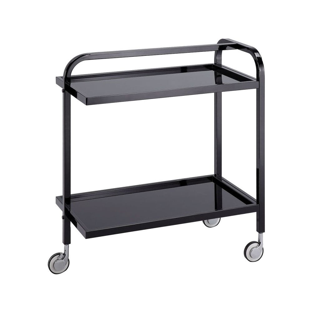 Čierny pojazdný servírovací stolík Design Twist Kansk