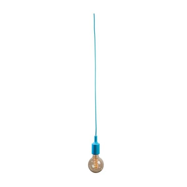 Textilný kábel s objímkou 3 m - svetlomodrý