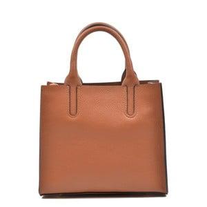Koňaková hnedá kožená kabelka Mangotti Erica