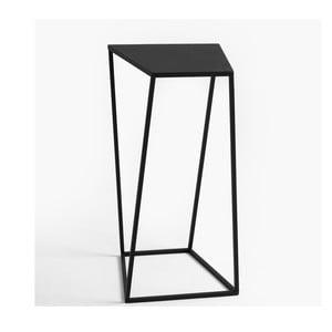Čierny odkladací stolík Custom Form Zak, 30 × 30 cm