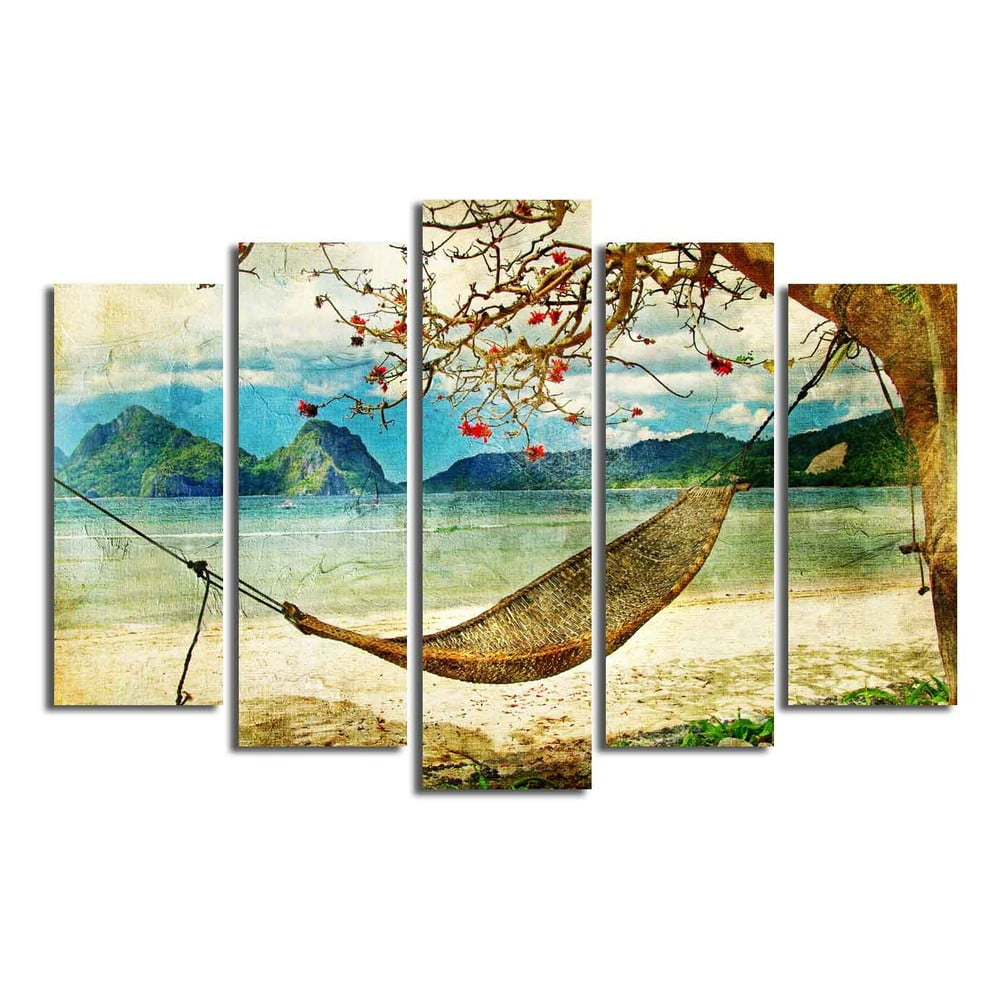 Viacdielny obraz Hammock, 105 × 70 cm