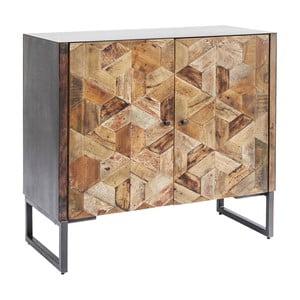 Hnedá komoda z mangového dreva Kare Design Tortuga