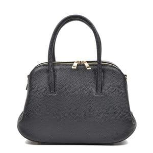 Čierna kožená kabelka Mangotti Marion