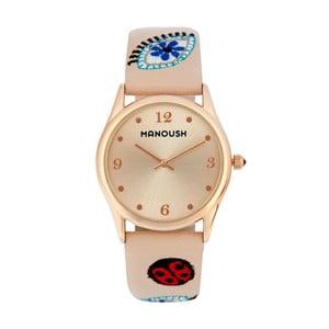 Dámske hodinky béžovej farby Manoush Ladybird