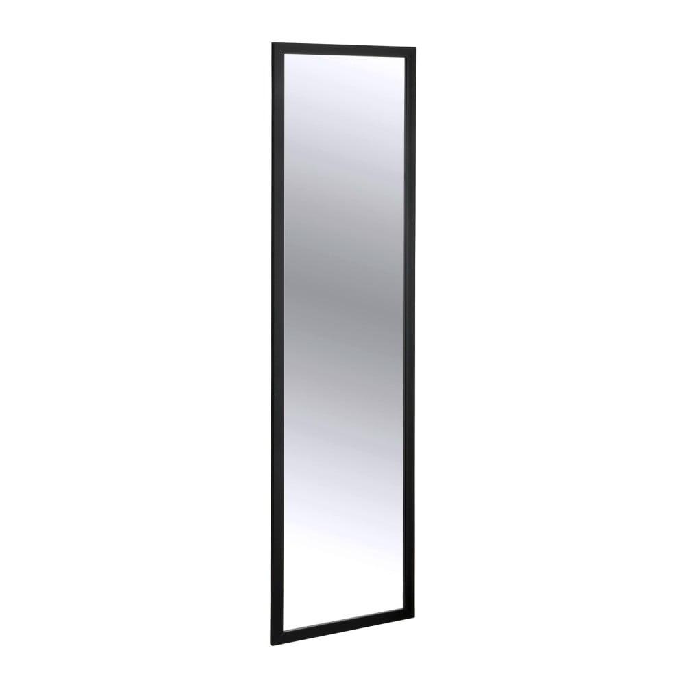 Čierne závesné zrkadlo na dvere Wenko Home, výška 120 cm