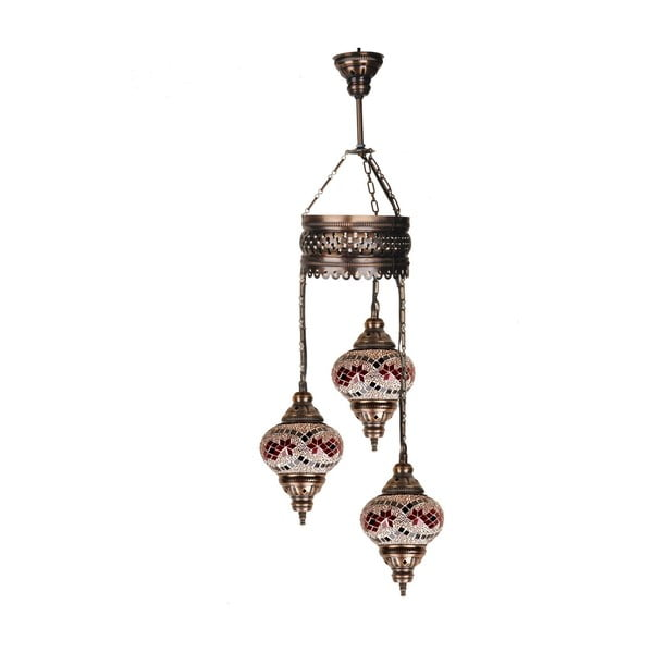 Sklenená závesná lampa Three XIV, 13 cm