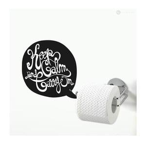Samolepka Keep Calm And Carry On Toilets