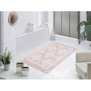 Staroružový odolný koberec Vitaus Primrose, 80x150cm
