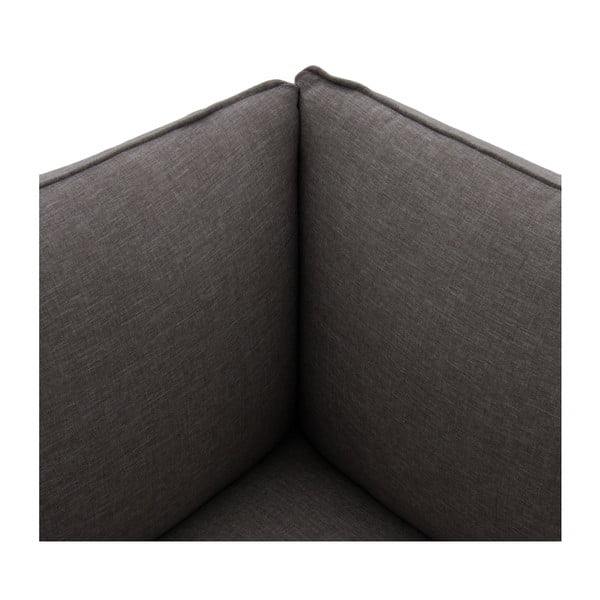 Tmavosivá trojmiestna pohovka VIVONITA Cube