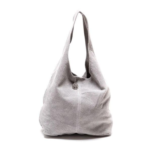 Sivá kožená kabelka Roberta M 885 Grigio
