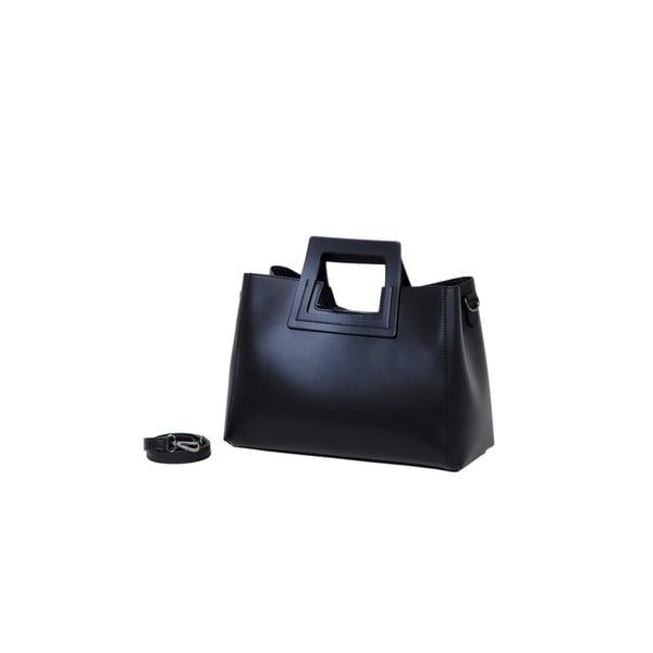 Čierna kabelka z pravej kože Andrea Cardone Pietro