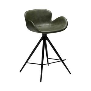 Tmavozelená barová stolička z eko kože DAN–FORM Denmark Gaia, výška 87 cm