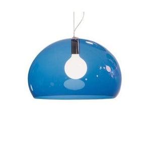 Petrolejové modré stropné svietidlo Kartell Fly, ⌀52cm