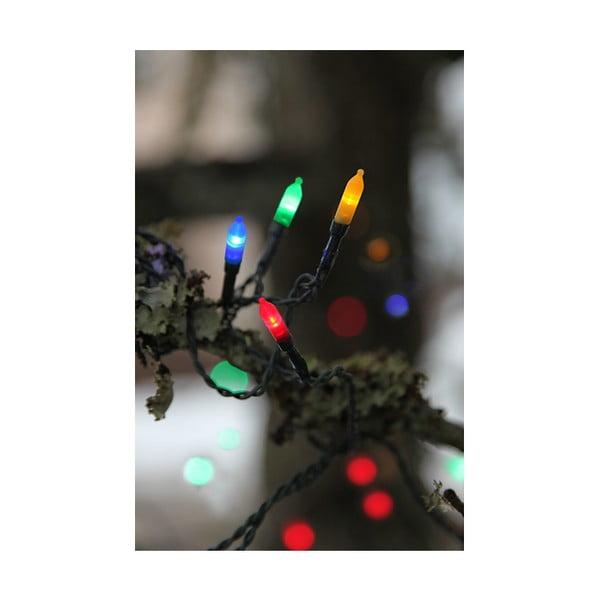 Vonkajšia svetelná LED reťaz s farebnými diódami Best Season, 80 svetielok