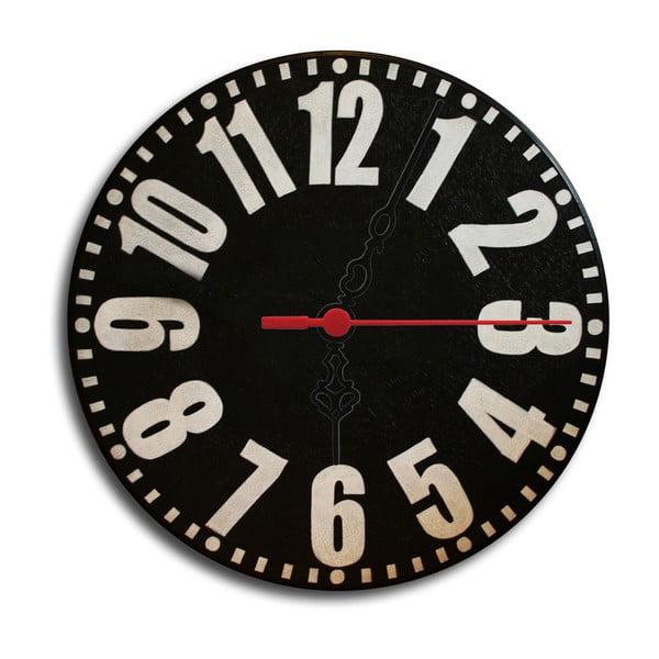 Nástenné hodiny Back To Black, 30 cm