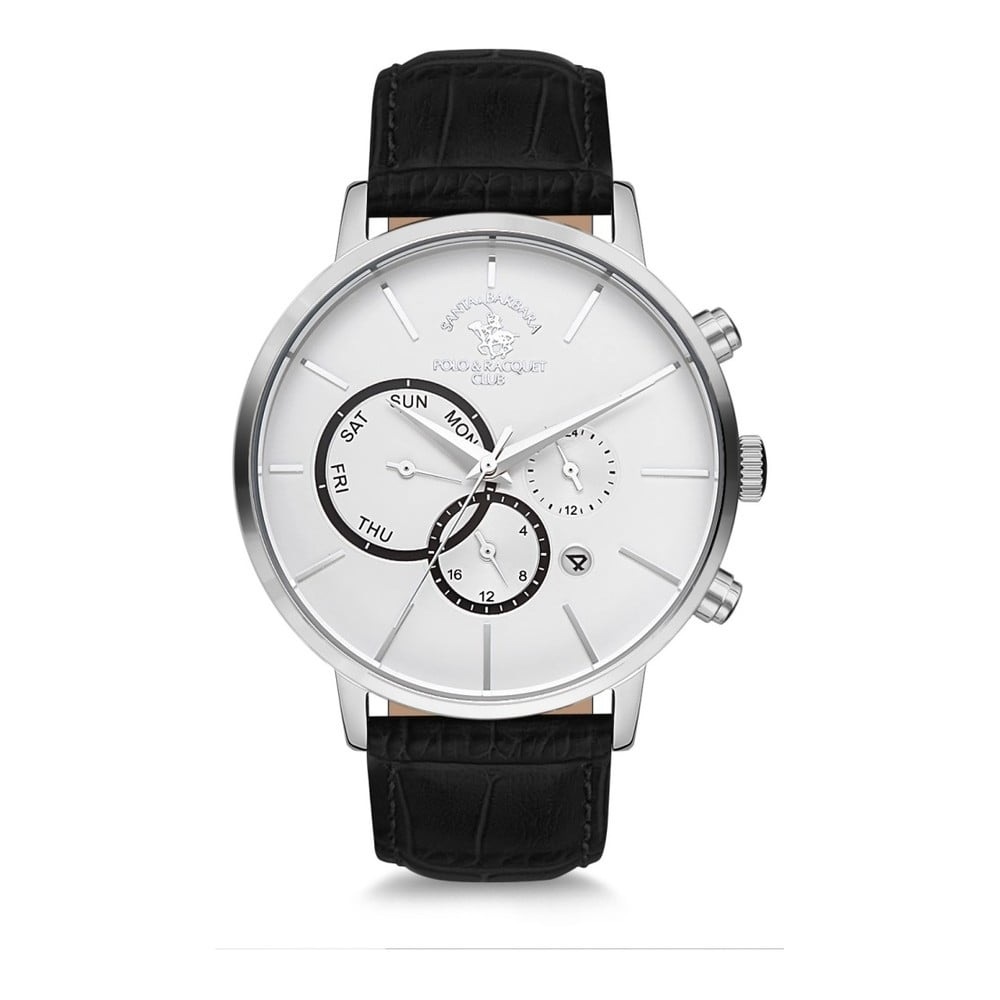 Pánske hodinky s koženým remienkom Santa Barbara Polo & Racquet Club Sporty