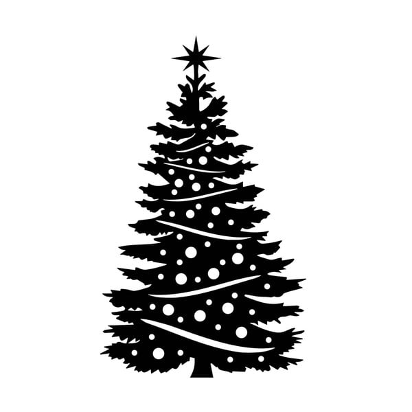 Vianočná samolepka Strom
