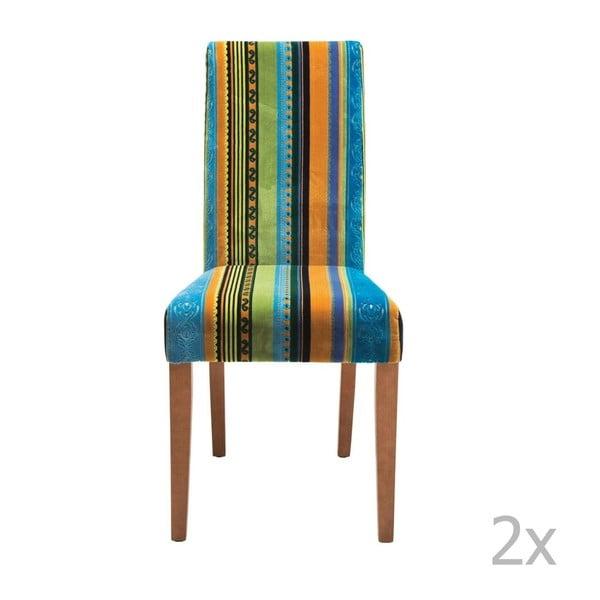 Sada 2 jedálenských stoličiek s podnožou z bukového dreva Kare Design Irish