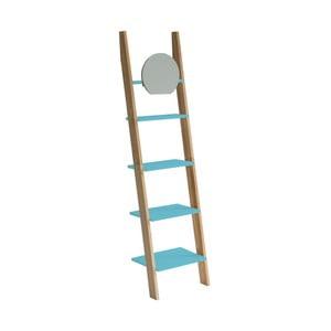 Tyrkysová oporná polica so zrkadlom Ragaba Ashme Ladder