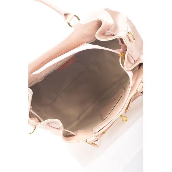 Ružová kožená kabelka Massimo Castelli Bibisa