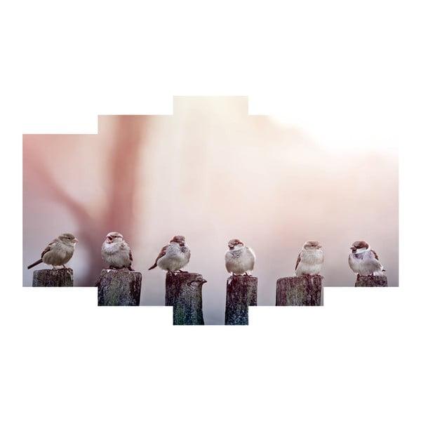 5-dielny obraz Birds