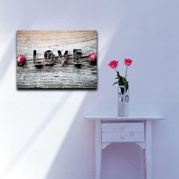 Obrazové hodiny Milujúci, 29 x 40 cm