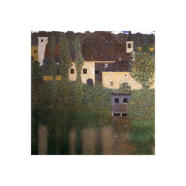 Obraz Gustav Klimt - Water Castle, 70x70 cm