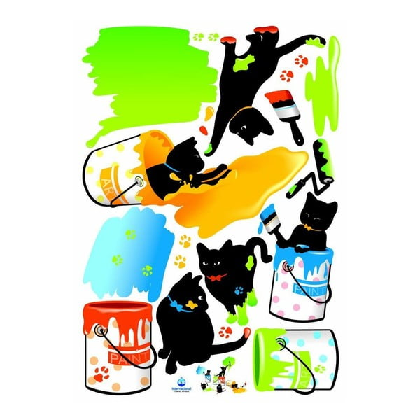 Samolepka Ambiance Cats and Paints
