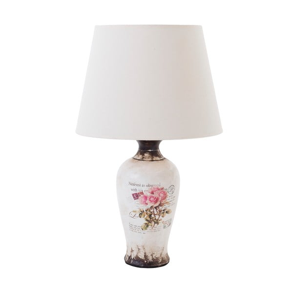 Keramická stolová lampa Pink Roses