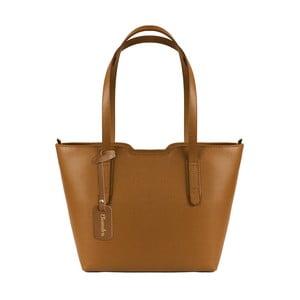 Hnedá kožená kabelka Maison Bag Alicia