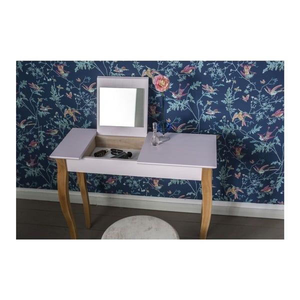 Biely toaletný stolík sozrkadlom Ragaba Dressing Table,dĺžka85cm
