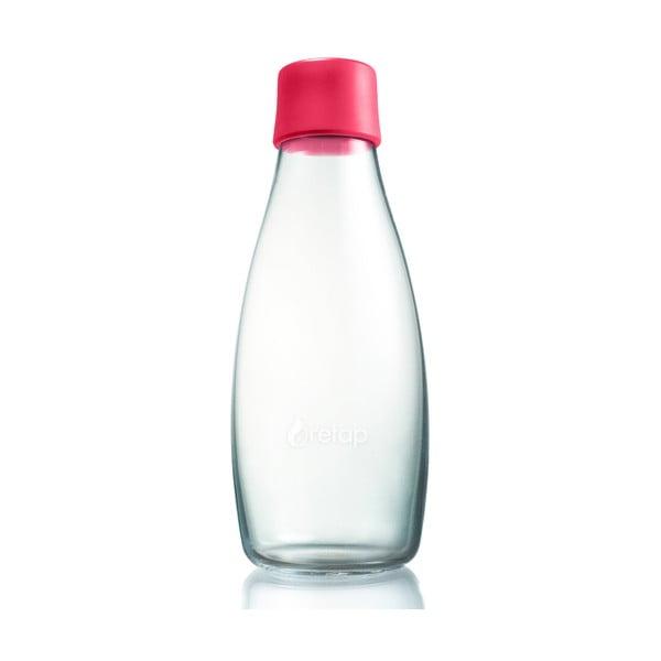 Malinovoružová sklenená fľaša ReTap s doživotnou zárukou, 500ml