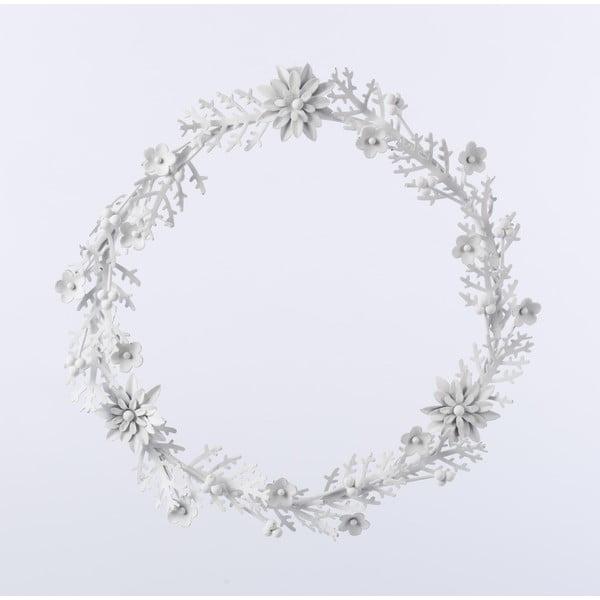 Kovový věnec Wreath, biely