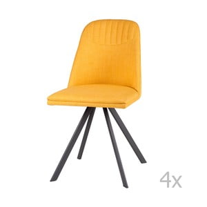 Sada 4 žltých jedálenských stoličiek sømcasa Cris