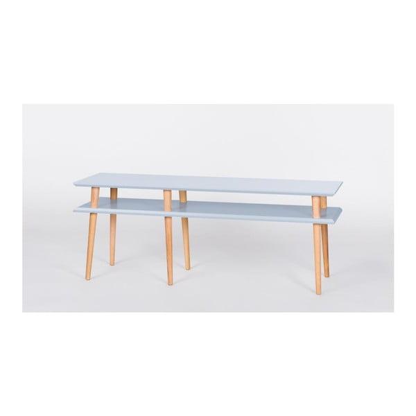 Svetlosivý konferenčný stolík Ragaba Mugo,dĺžka139 cm
