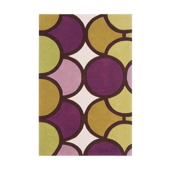 Koberec Asiatic Carpets Harlequin Bubble Purple Green, 120x180 cm