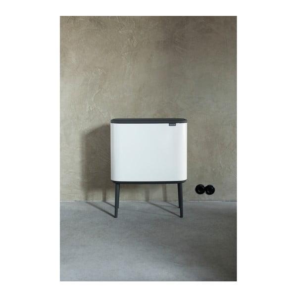 Biely odpadkový kôš s 3 vnútornými priehradkami Brabantia Touch, 3 x 11 l