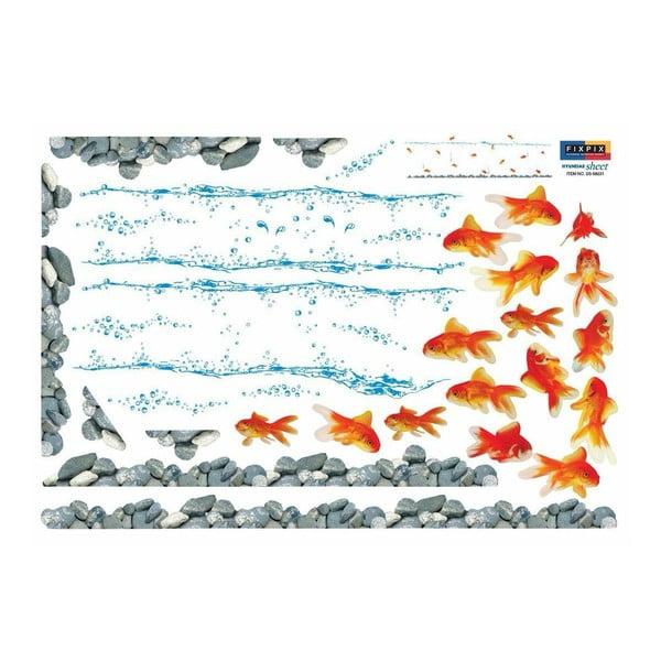 Sada 16 samolepiek Ambiance Red Fishes