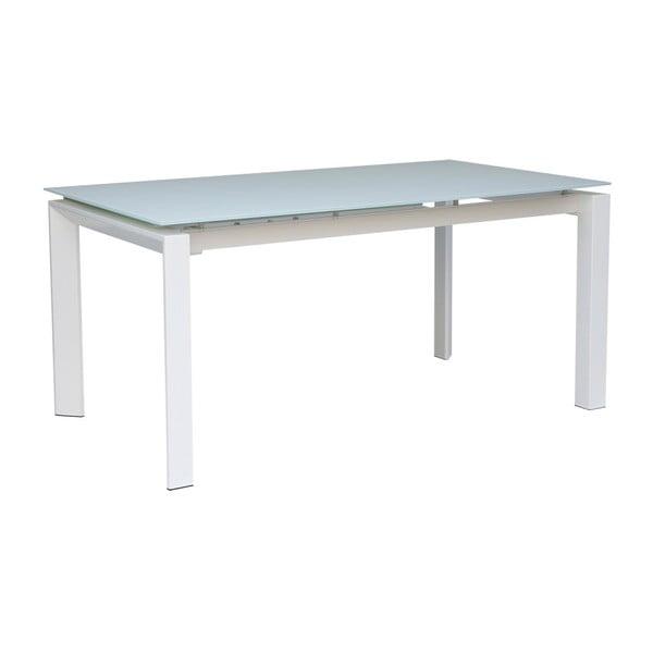 Biely rozkladací jedálenský stôl sømcasa Marla, 140×90cm