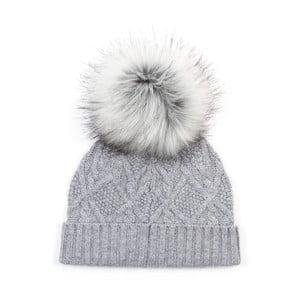 Sivá kašmírová čapica Bel cashmere Dolores