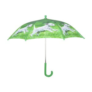 Zelený dáždnik s potlačou šteniatka Esschert Design Animals